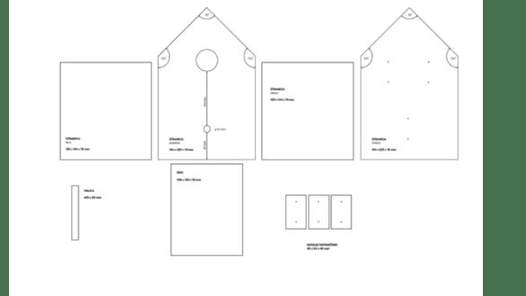 načrt ptičje hišice 2 korak
