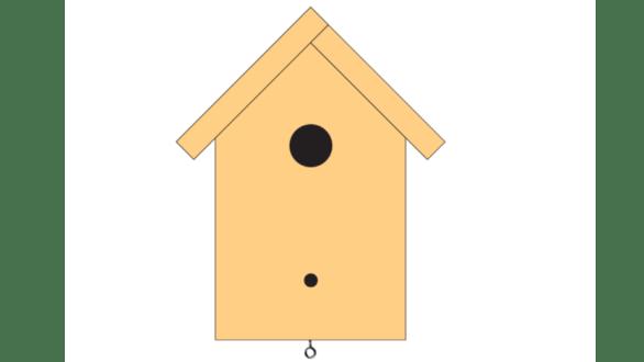 načrt ptičje hišice 3 korak