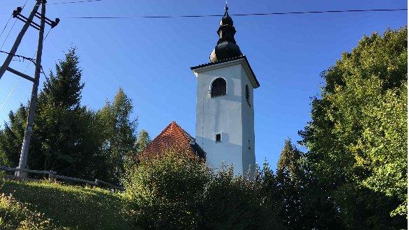 Cerkev na Planici nad Kranjem.