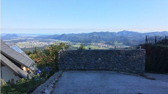 Razgled iz Planice nad Kranjem.